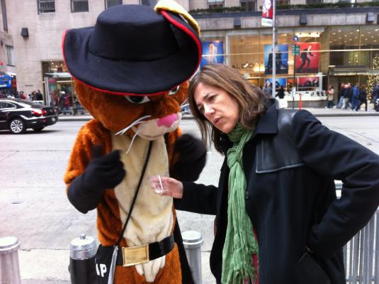 Lisa; pictured next to Belgian diplomat.