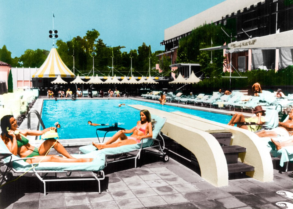 From Robert S. Anderson's The Beverly Hills Hotel and Bungalows: The First 100 Years; For Details go to VF.com/Credits