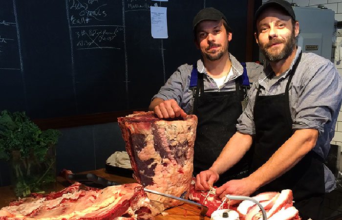 Actual butchers (not life size)