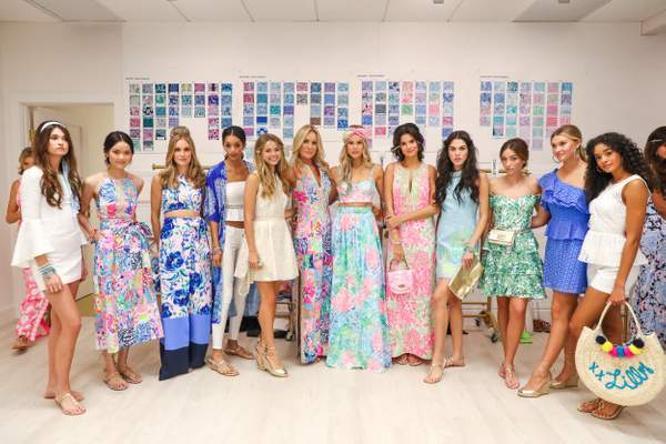 Models line up wearing Lilly Pulitzer. (BFA)