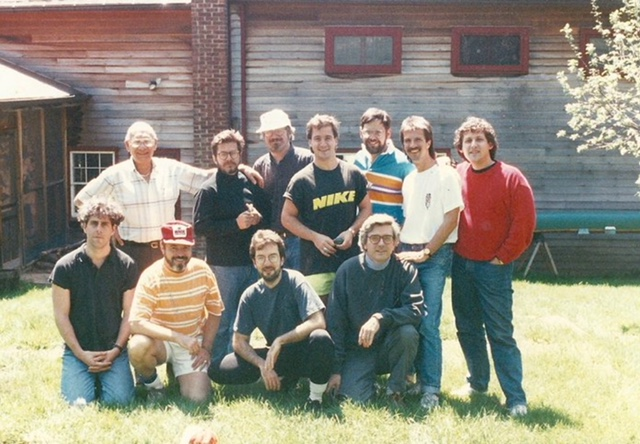 Men's Week, circa 1990. Elliott is on the far right.