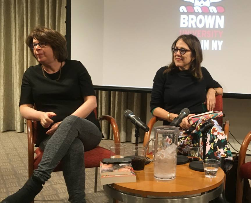With Meg Wolitzer (L) at last week's Brown Club gathering.