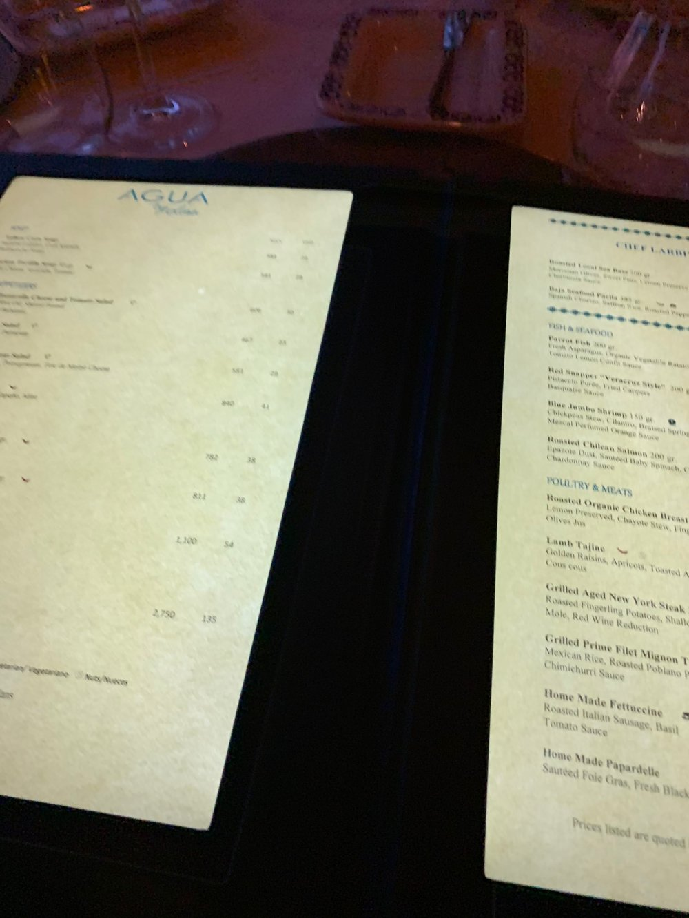 I can read this menu all the way from home!
