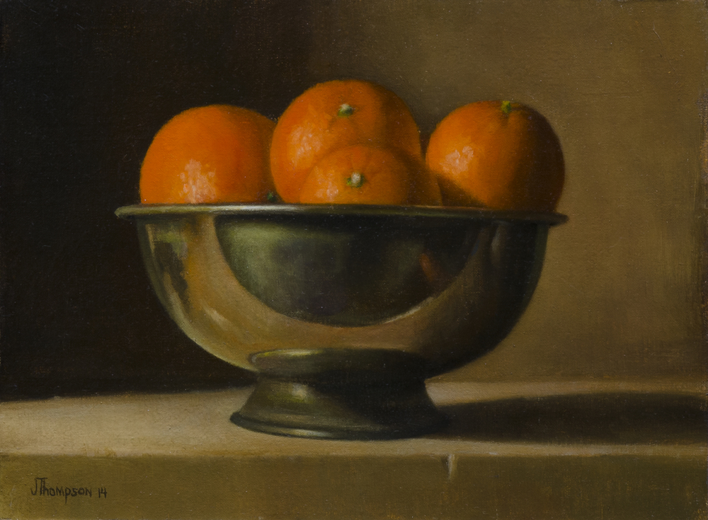 """Clementines and Brass Bowl"""