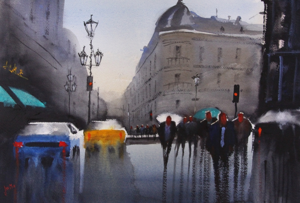 Rainy Paris Street