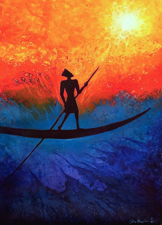 ekatherina Sun- boat, 90x70cm, acrylic on canvas, 2009.jpg