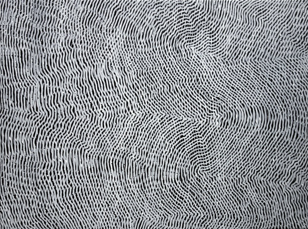 Lines 95  Varnish on Canvas  30cm x 40cm