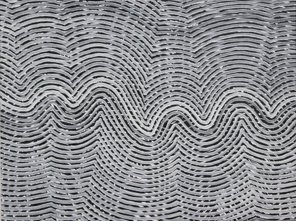 Lines 79  Varnish on Canvas  30cm x 40cm