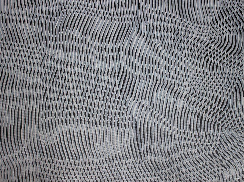 Lines 72  Varnish on Canvas  30cm x 40cm