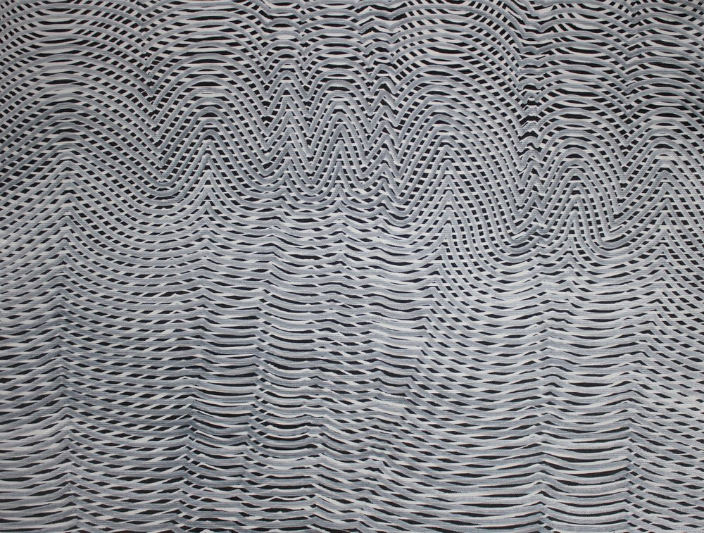 Lines 48  Varnish on Canvas  30cm x 40cm