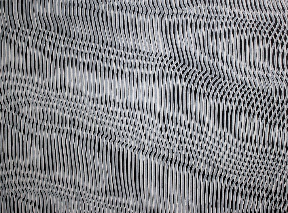 Lines 36  Varnish on Canvas  30cm x 40cm