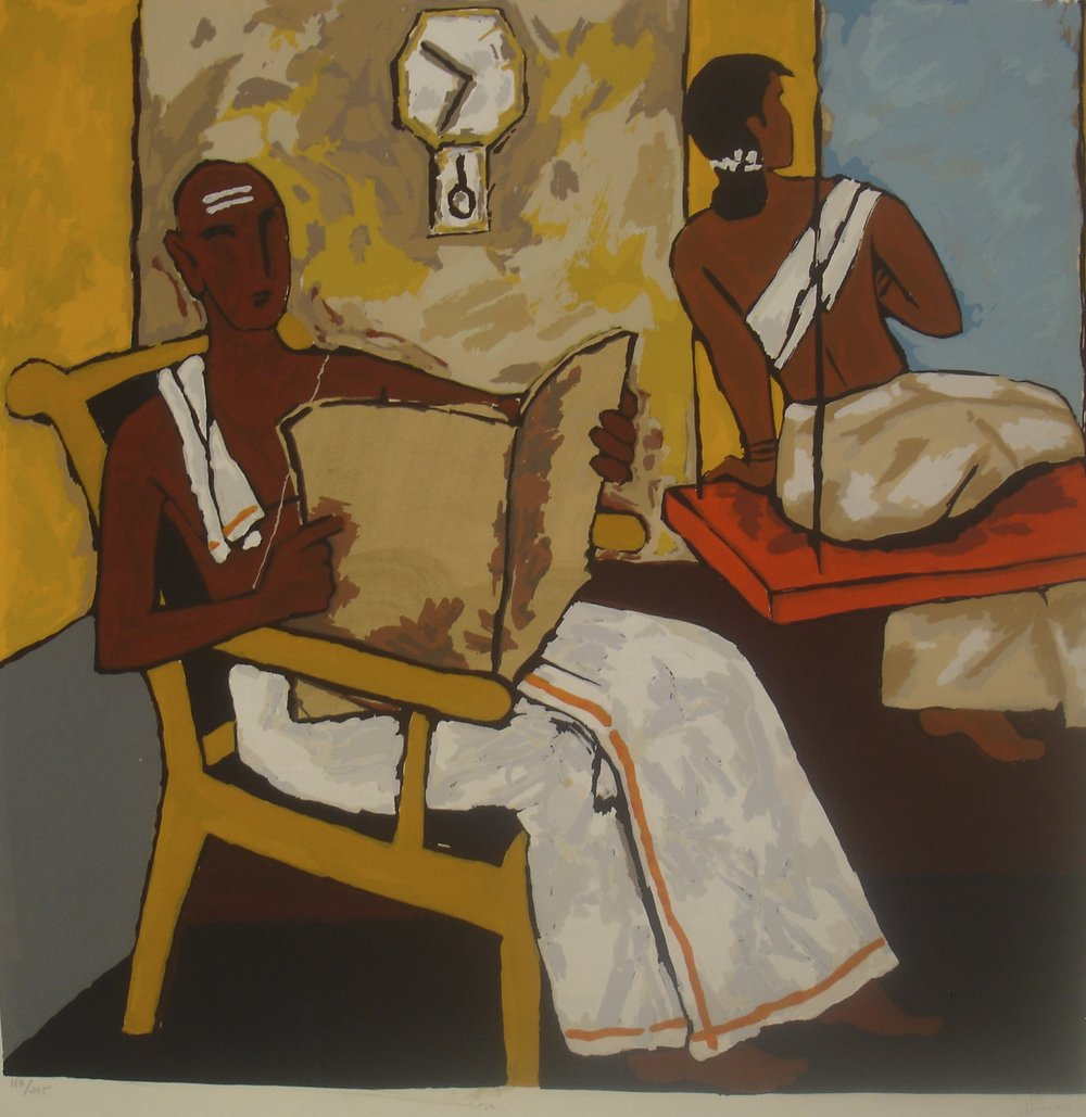 MF Husain, Kerala 2, 40 x 41 in., serigraph on paper, $3,500.jpg