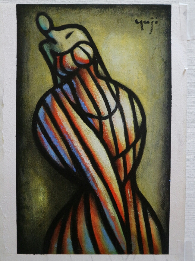 yuji dancer  30 x20 cm paper 1500, 2017.JPG