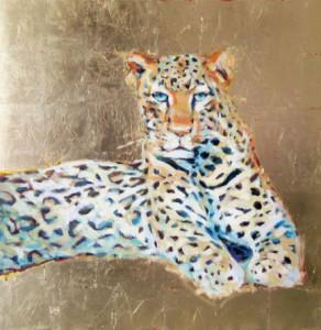 Tasos Dimos, Leopard, 39.4 x 39.4 in., mixed media, 2013, $4,500.jpg