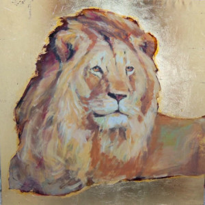 Tasos Dimos, Lion, 39.4 x 39.4 in., mixed media, 2013, $4,500.jpg