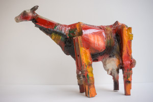 Gnana Dickman, Cow 3, 11 x 14 x 5 in., mixed media sculpture, $3,500.jpg