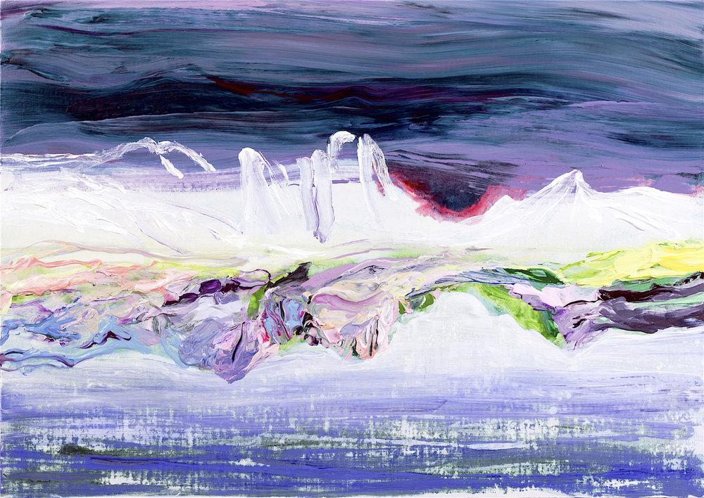 "Mayuko Hayashi""The mountain range"" 36× 51cm Acrylic on canvas 2016.jpg"