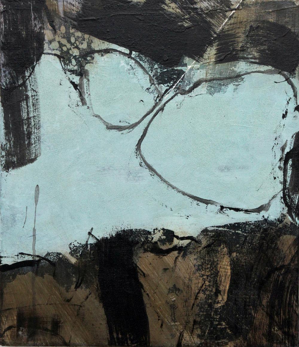 """DAISUKE HARA """"pain"""" 45.5 x 53cm Acrylic on canvas 2018.JPG"""