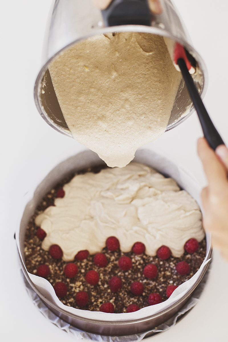 Cheesecake Vegan de Limão & Framboesa