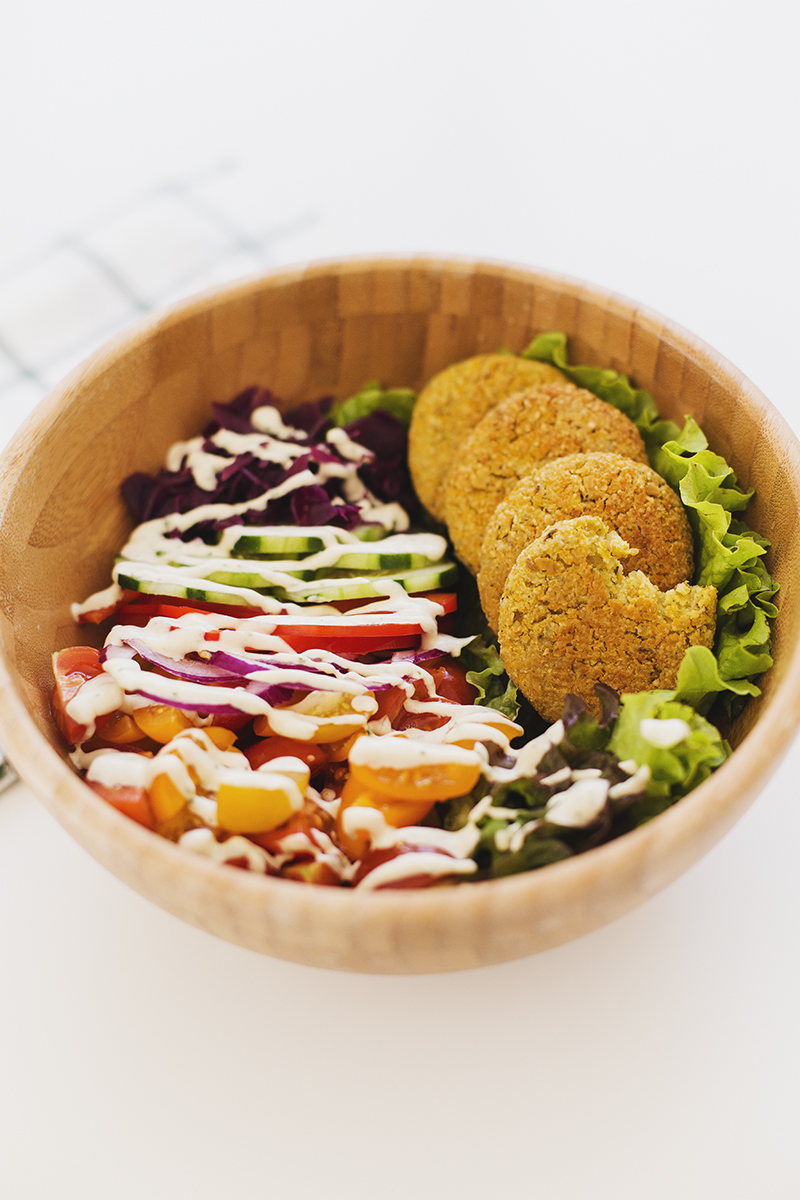 Carrot & Lemon Baked Falafel Salad