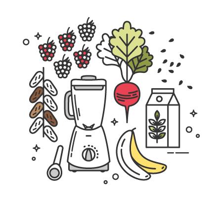 Healthy Vegan Beetroot & Raspberry Smoothie