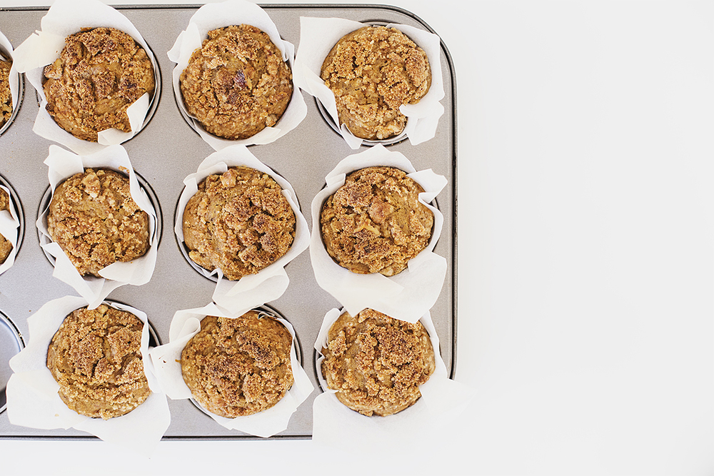 Healthy Vegan Carrot & Orange Muffins with Salted Walnut Crumb