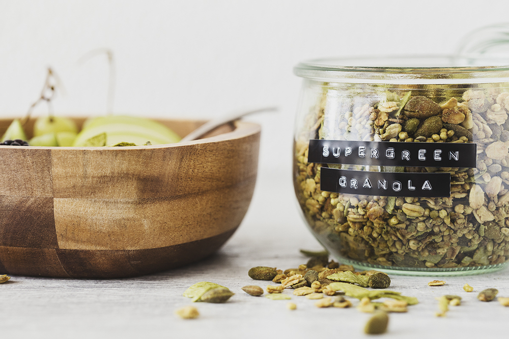 Vegan Coconut & Lime Supergreen Granola Recipe