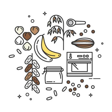 Receita Saudável de Barras de Avelã, Banana & Granola