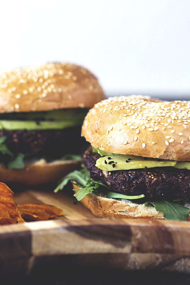 Vegan Black Bean, Mushroom, Dried Fig & Kalamata Olive Burger Recipe