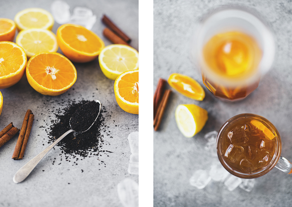 Receita Saudável de Chá Frio de Citrinos & Canela