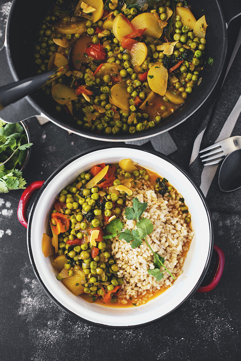 Healthy Vegan Pea Stew Recipe