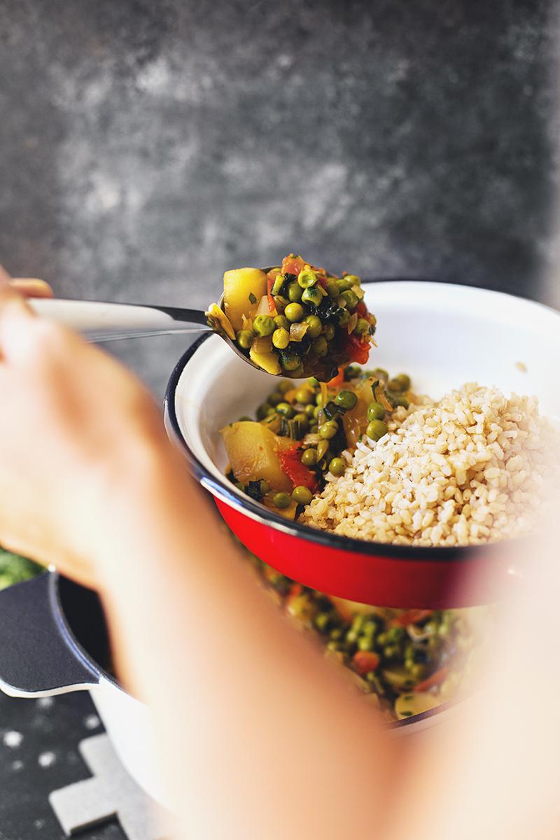 Receita Saudável e Vegetariana de Ervilhas Estufadas