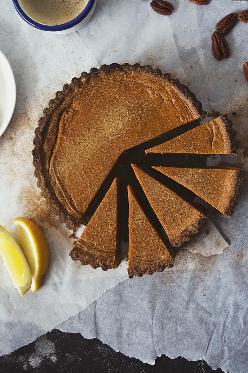 Receita Vegan e Saudável de Tarte de Batata Doce & Citrinos, a sobremesa perfeita para este Natal!