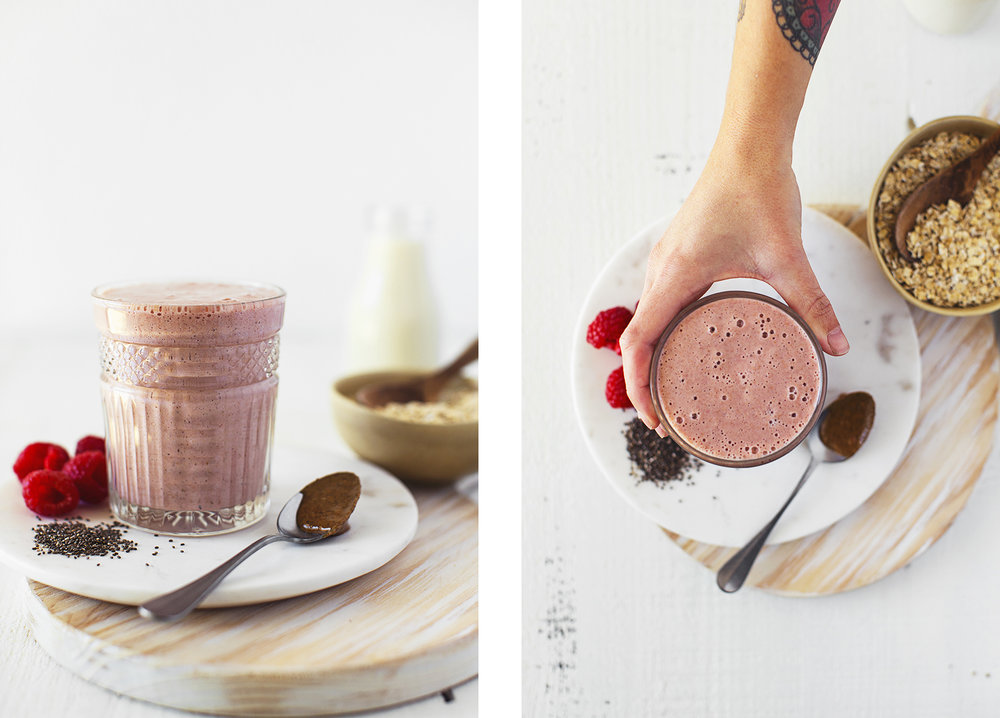 Easy, vegan recipe for a delicious and functional Hormone Balancing Smoothie that really works! Requires only 7 simple ingredients and 3 amazing adaptogens.
