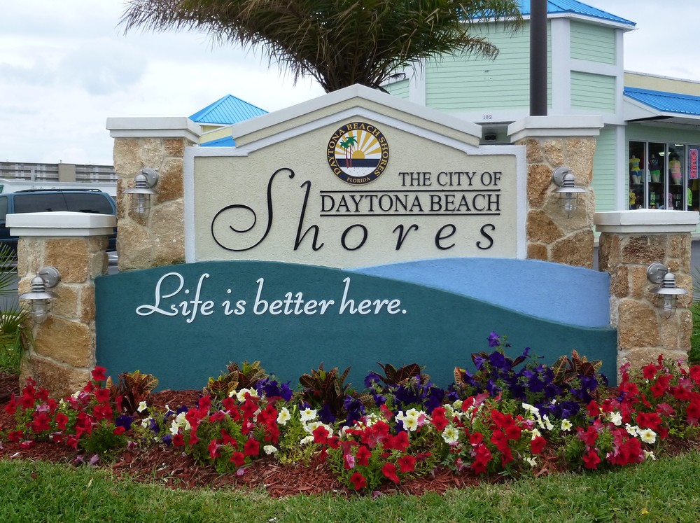 City of Daytona Beach Shores Welcome sign