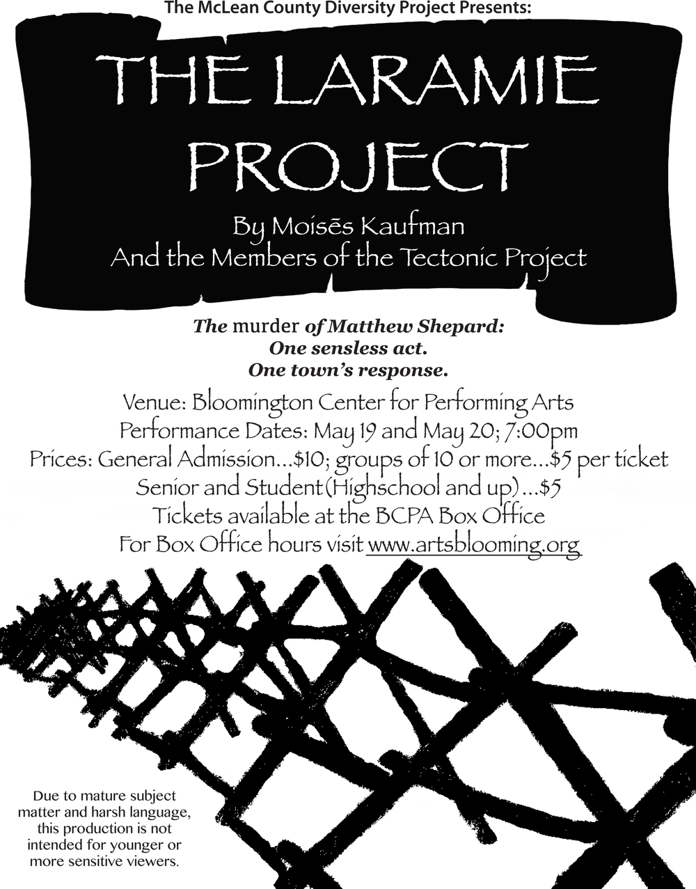 twin cities stories not in our town bloomington normal kerry laramie project opportunity to remember discuss and learn