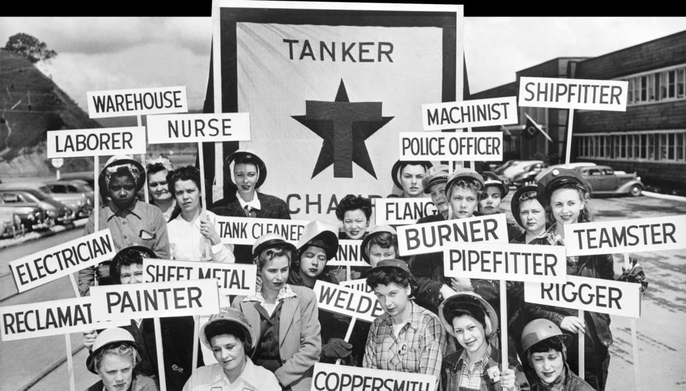 In mid-1943, nearly 65 percent of shipyard workers on the West Coast were women.