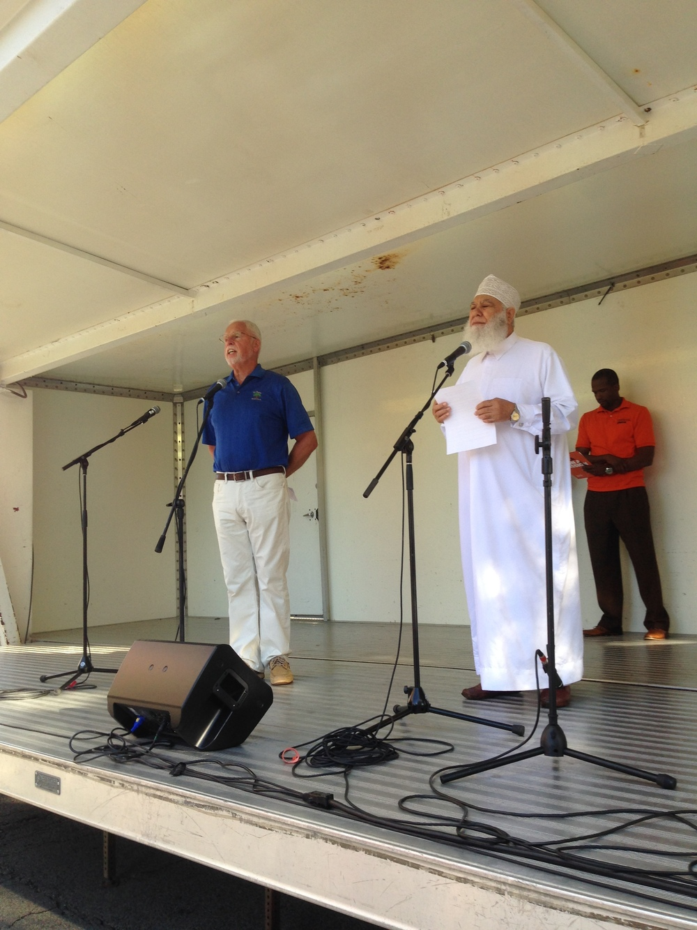 The Rev. John Libert and Imam Abu Emad were among Twin Cities spiritual leaders who dedicated Tuesday's NIOTBN 20th anniversary celebration.