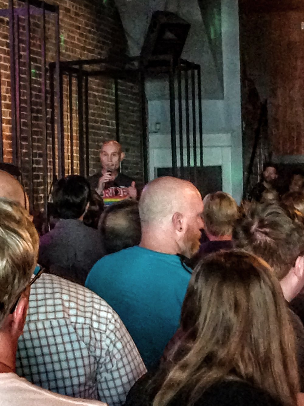 Dave Bentlin commemorates the victims of the Pulse nightclub shootings at Bloomington's The Bistro.