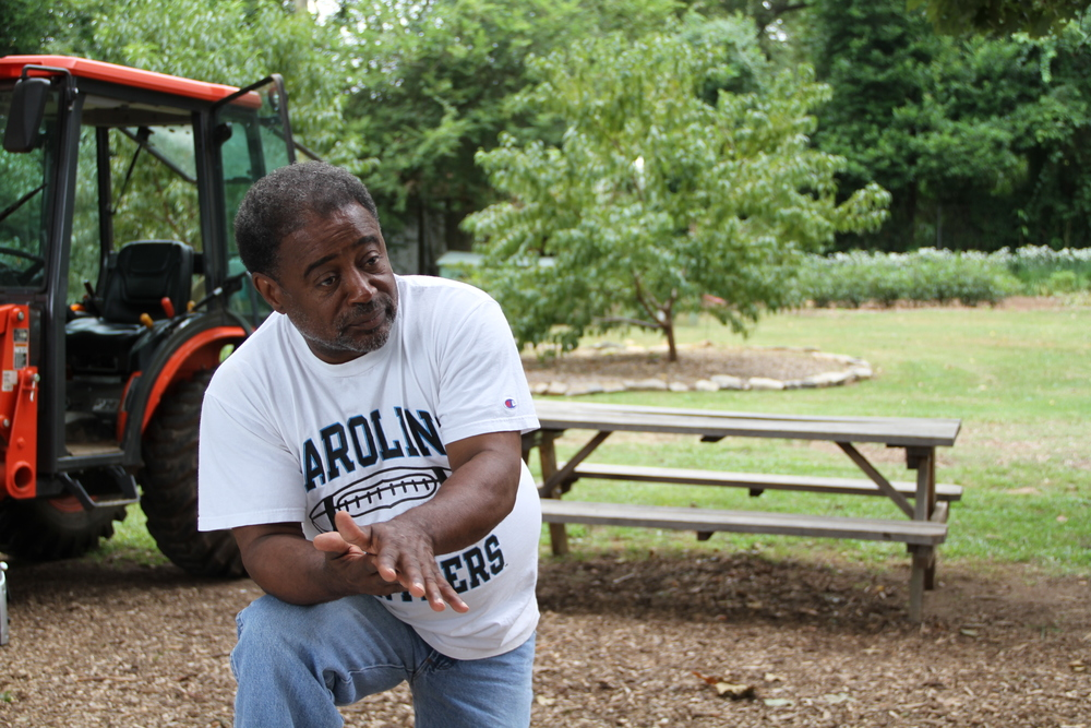 Bobby Wilson finishes up a tour on Metro Atlanta Urban Farm.