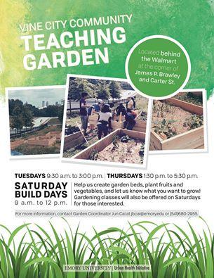 Vine City Community Teaching Garden Looking for Volunteers — Food ...