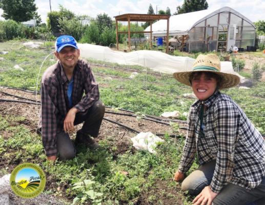 Cody Burnett,Farm Manager (left) and Nobi Ennis Muhl,Farm Assistant (right) pictured at the Good Sam Urban Farm.