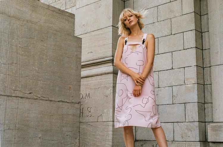 marigold, robe bessie rose, printemps été 2017