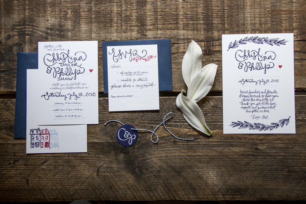 Christina and Phillip Shaw Wedding Stationery | Sea of Atlas