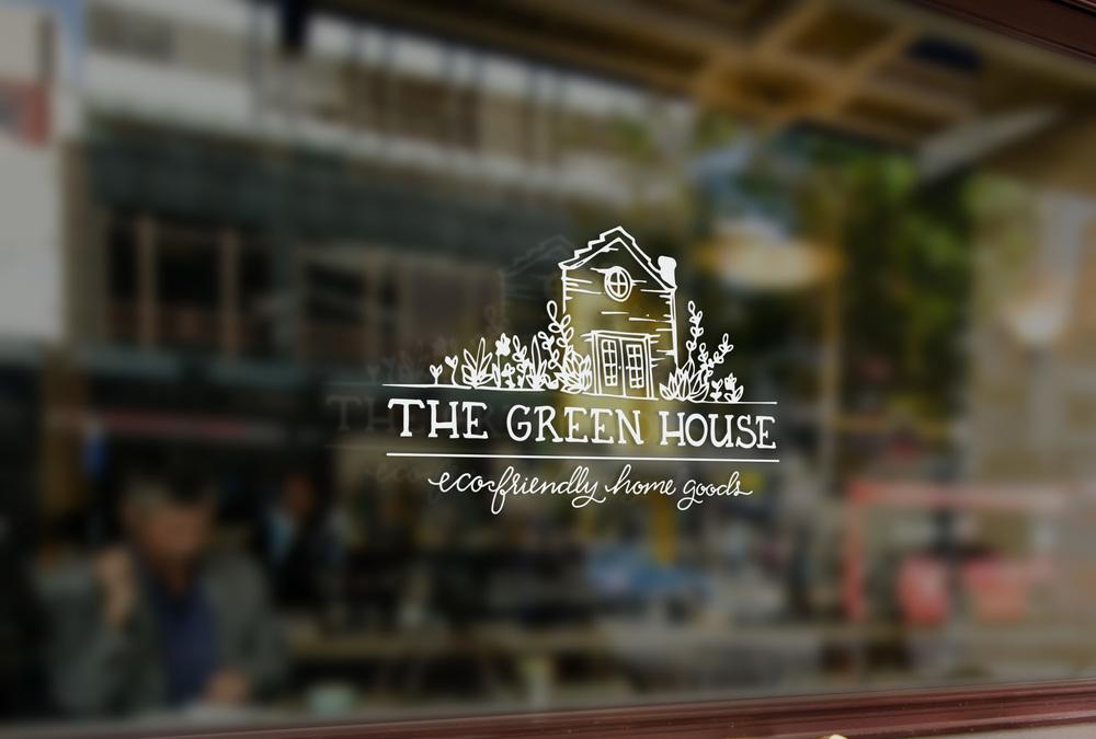The Green House Window Vinyl Logo | Sea of Atlas