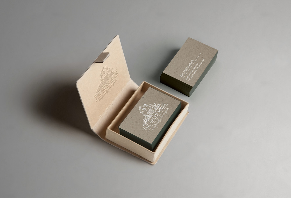 The Green House Branded Business Cards | Sea of Atlas