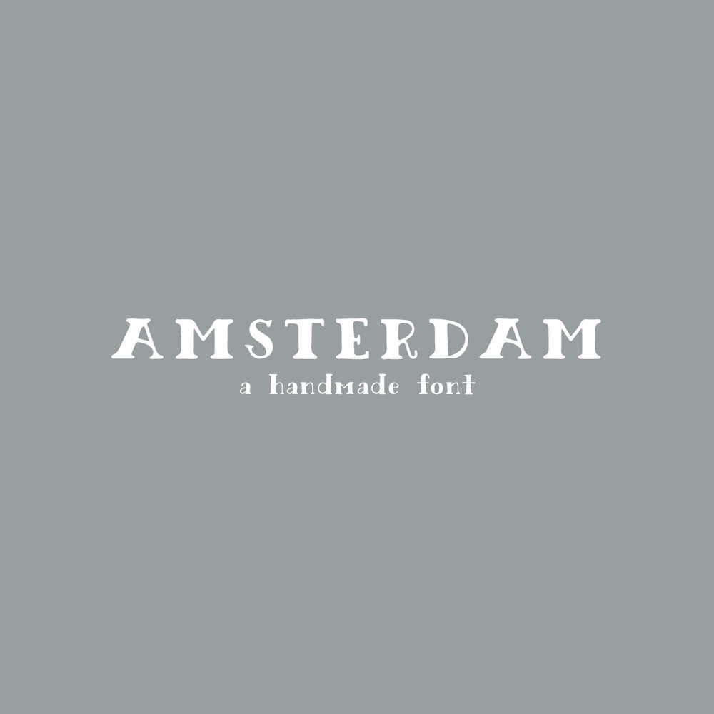 AMSTERDAM a hand-lettered font $15.00
