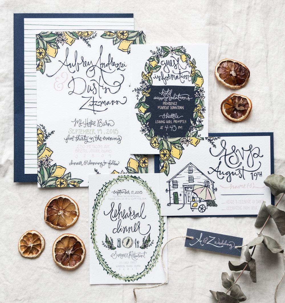 Aubrey and Dustin Zitzmann Wedding Stationery and Decor   Sea of Atlas