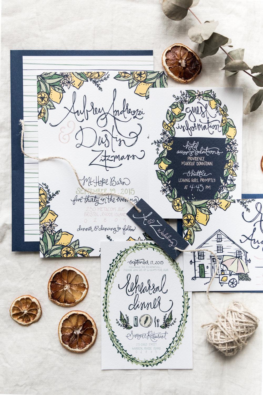 Aubrey & Dustin Zitzmann Wedding Stationery   Britt Fabello