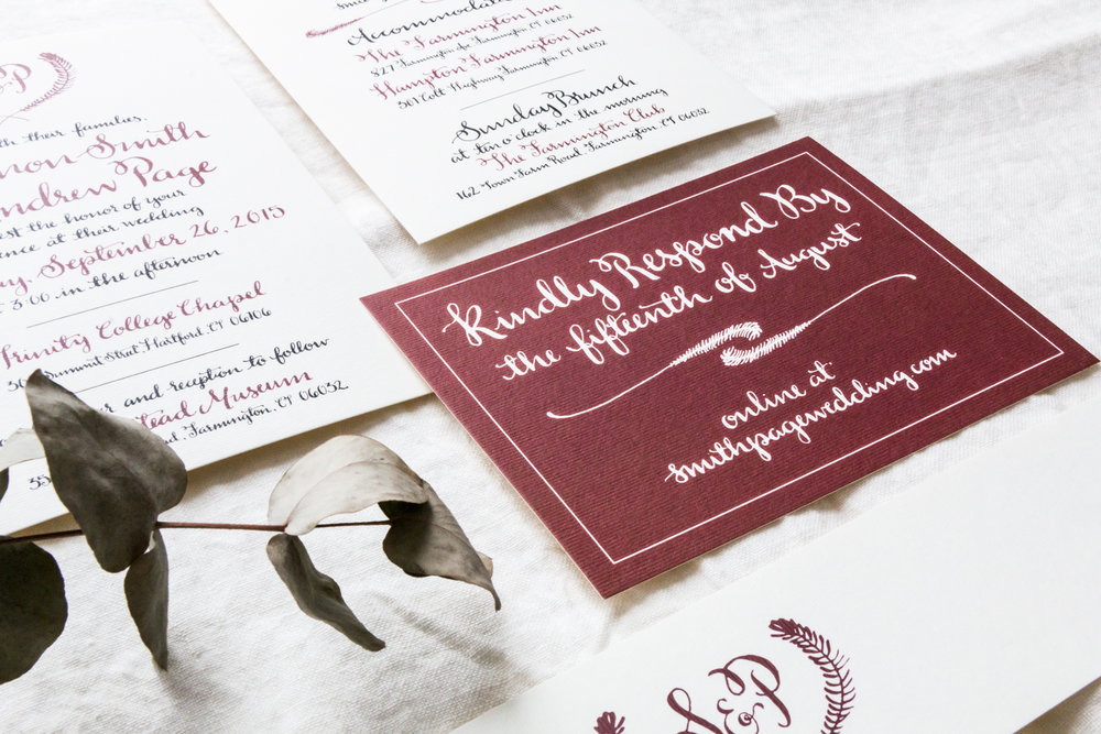 Shanon & Andrew Wedding Stationery | Britt Fabello